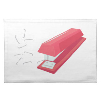 Red Stapler Cloth Placemat