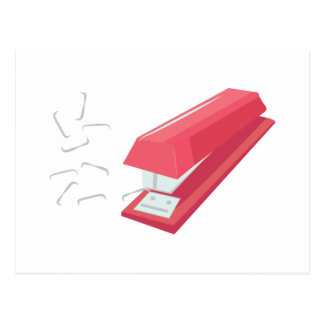 Red Stapler Postcard