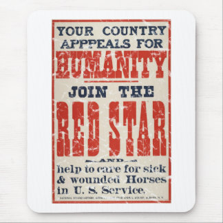 Red Star-1918 - distressed Mouse Pad