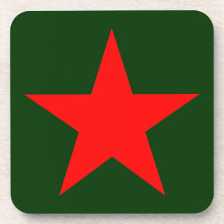 Red star 1 drink coasters