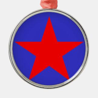 Red star 1 metal ornament
