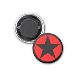 Red star 2 refrigerator magnet