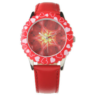 red star abstract girly watch