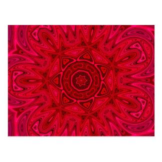 Red Star and Sun Mandala Postcard