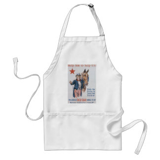 Red Star Animal Relief World War 2 Adult Apron