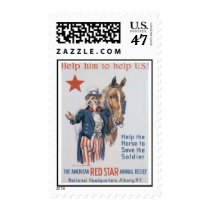 Red Star Animal Relief World War 2 Postage