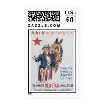 Red Star Animal Relief World War 2 Postage