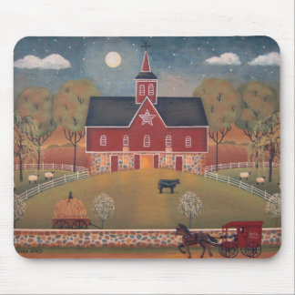 Red Star Barn Mousepad