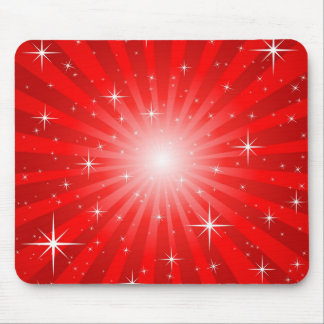 Red Star Burst Mousepad