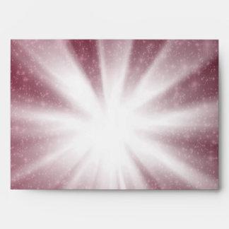 Red Star Burst Starry Night Envelopes