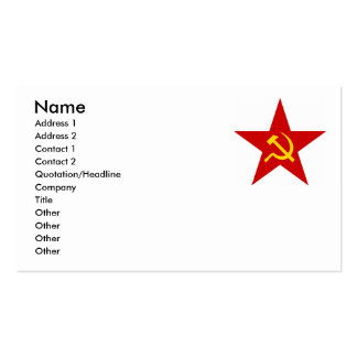 Red Star Double-Sided Standard Business Cards (Pack Of 100)