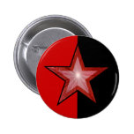 Red Star button red black