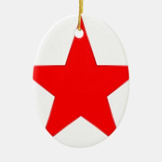 Red Star Ceramic Ornament