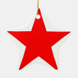 Red Star Ceramic Ornament