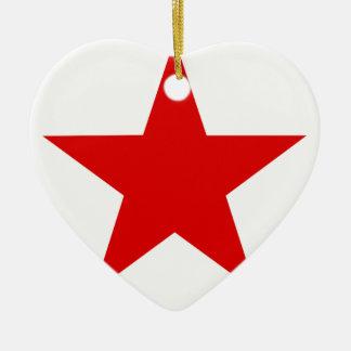 Red Star ★ Ceramic Ornament