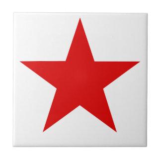 Red Star ★ Ceramic Tile