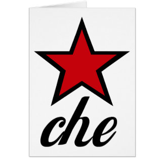 Red Star Che Guevara Greeting Cards