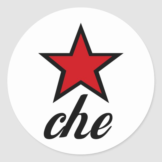Red Star Che Guevara! Classic Round Sticker