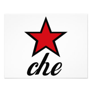 Red Star Che Guevara Personalized Invitations