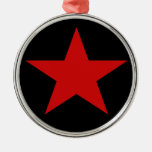 Red Star Christmas Tree Ornaments