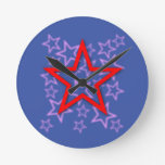 Red Star Clock