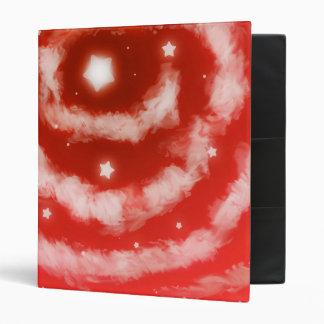 Red Star Clouds Binder