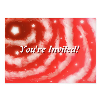 Red Star Clouds Invitation