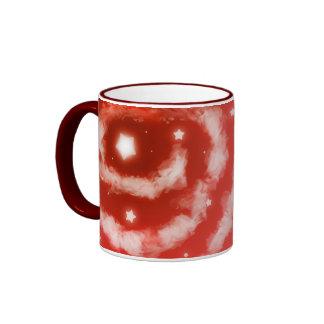 Red Star Clouds Mugs