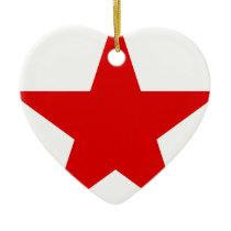 Red Star ★ Communist Socialist Soviet Star Ceramic Ornament