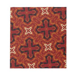 red star cross pattern memo notepad