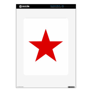 Red Star ★ Decal For iPad