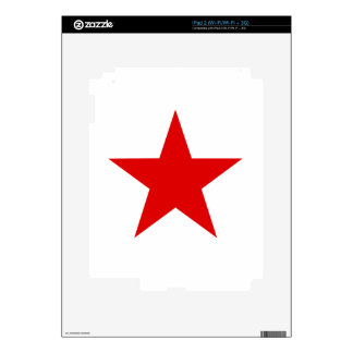 Red Star ★ Decal For iPad 2
