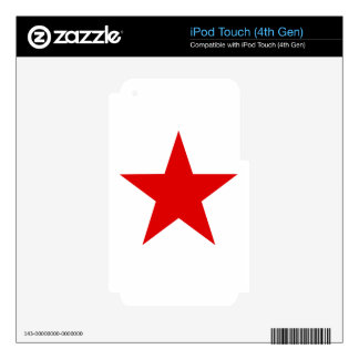 Red Star ★ Decal For iPod Touch 4G