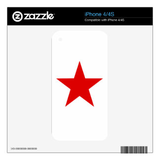 Red Star ★ Decals For The iPhone 4S