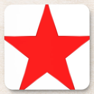 Red Star Drink Coaster
