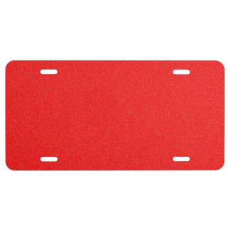 Red Star Dust License Plate