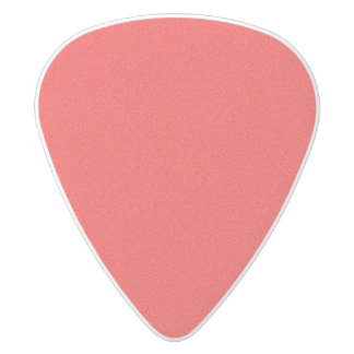 Red Star Dust White Delrin Guitar Pick