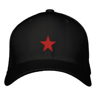 Red Star Embroidered Baseball Hat