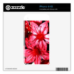 Red Star Flower iPhone Case Decals For iPhone 4