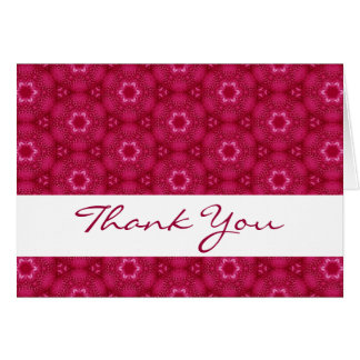 Red Star Flowers Thank You H204 Greeting Cards