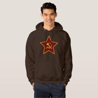 Red Star Hammer and Sickle Men's Hooded Sweatshirt