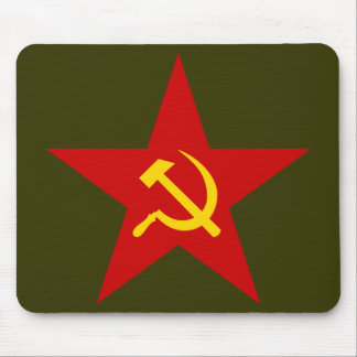 Red Star (hammer & sickle) mousepad
