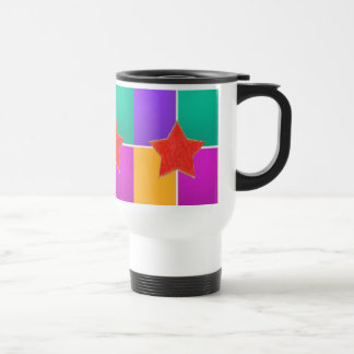 RED STAR in colorful background : LOWPRICE GIFTS Coffee Mug