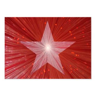 "Red Star invitation 5"" X 7"" Invitation Card"