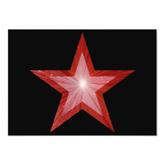 "Red Star invitation black 5"" X 7"" Invitation Card"