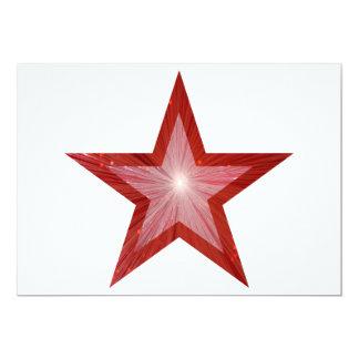"Red Star invitation white red back 5"" X 7"" Invitation Card"