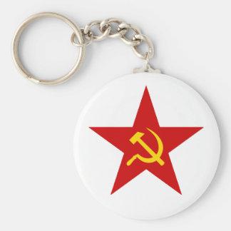 Red Star Key Chain