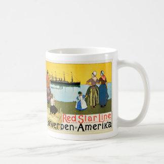 Red Star Line ~ Antwerpen-Amerika Coffee Mug