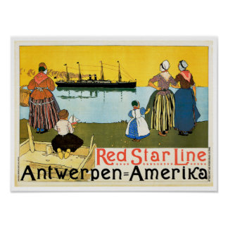 Red Star Line ~ Antwerpen-Amerika Poster
