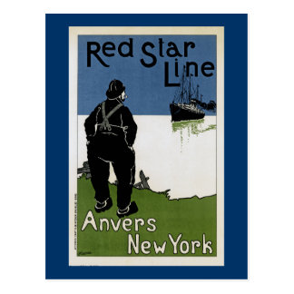 Red Star Line Post Card